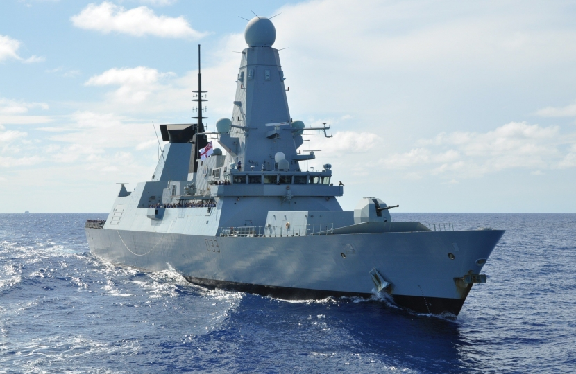 HMS Dauntless at sea