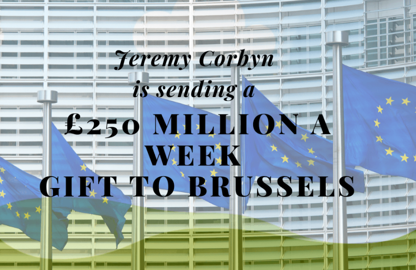 Labour's £250 million gift to Brussels