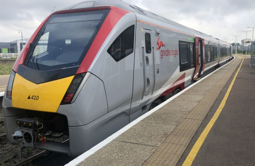 New Greater Anglia train at Great Yarmouth station